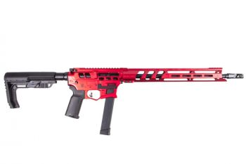 Lead Star Arms Barrage - Skeletonized 9MM Competition Edition PCC Rifle - Red