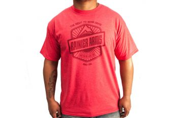 Rainier Arms 'Right to Bear Arms' T-Shirt - Red