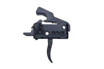Rise Armament Rave 140 Super Sporting Trigger w/ Anti-Walk Pins - Black Curved