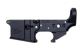 Sons of Liberty Gun Works AR-15 Stripped Lower Receiver - Rebellious Stripes