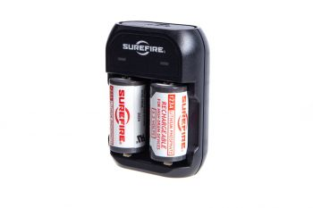 Surefire 123A Rechargeable Batteries - 2 Pack w/ Charger