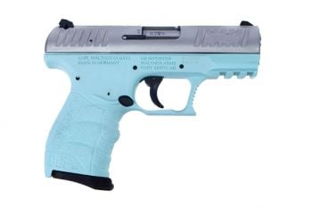 Walther CCP M2 9mm Pistol - Angel Blue/Stainless Steel