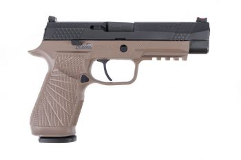 Wilson Combat WCP320 Full 9mm Pistol w/ Action Tuned Curved Trigger - Tan