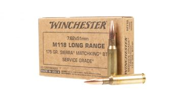 Winchester Ammo 7.62x51 175gr Sierra MatchKing Hollow Point Boat-Tail Ammunition - 20rd Box