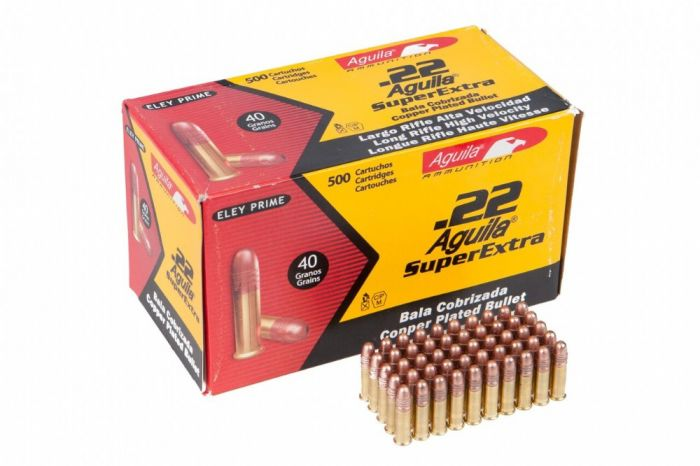 aguila eley prime 22 long rifle super extra 40 gr 500 rounds ammo