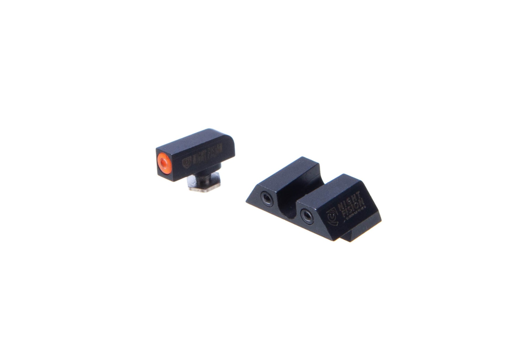 "Night Fision Glock 42/43/43X Glow Dome Tritium Night Sights Set - ""U"" Rear"