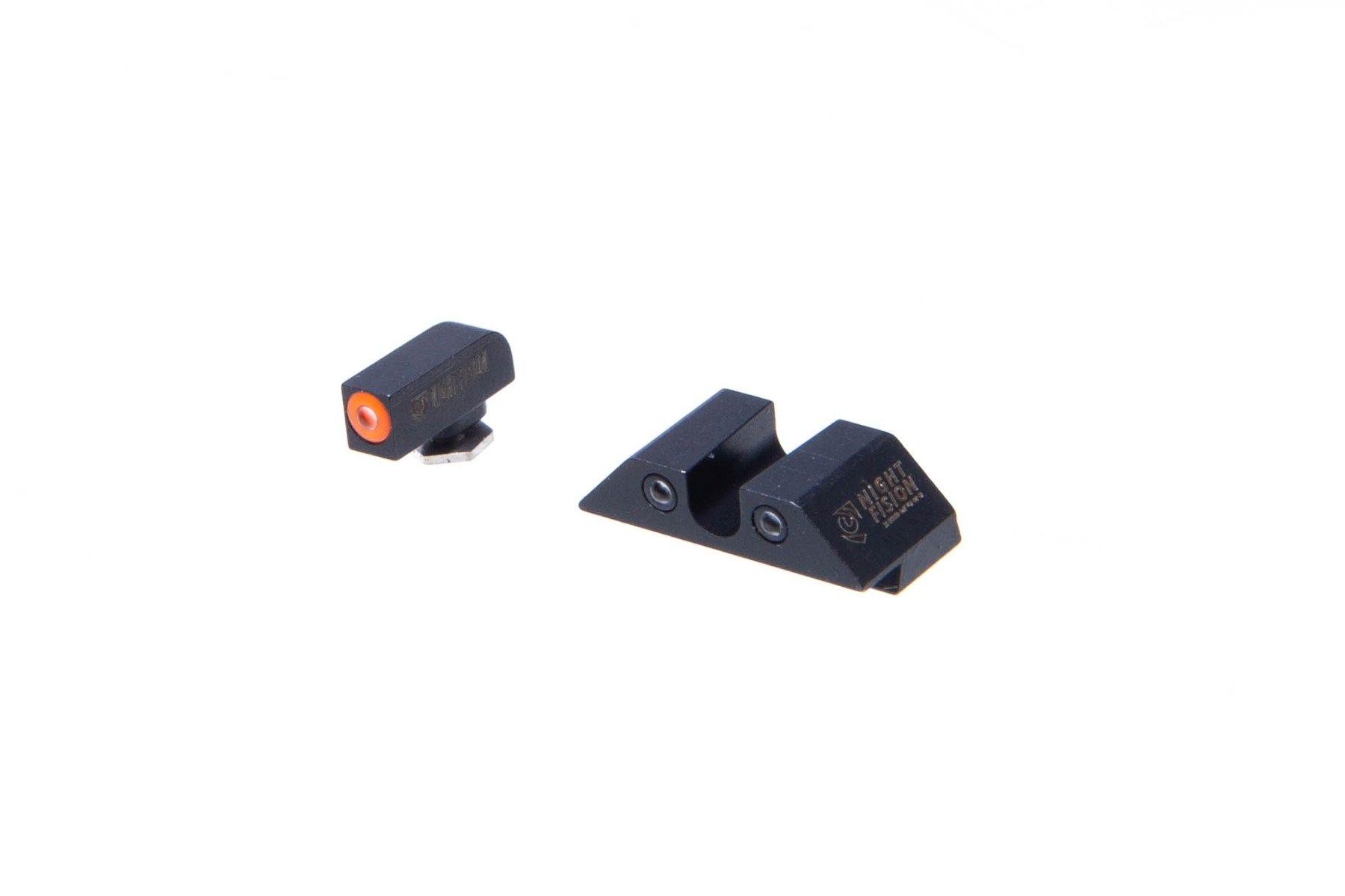 "Night Fision Glock Glow Dome Tritium Night Sights Set -  ""U"" Rear"