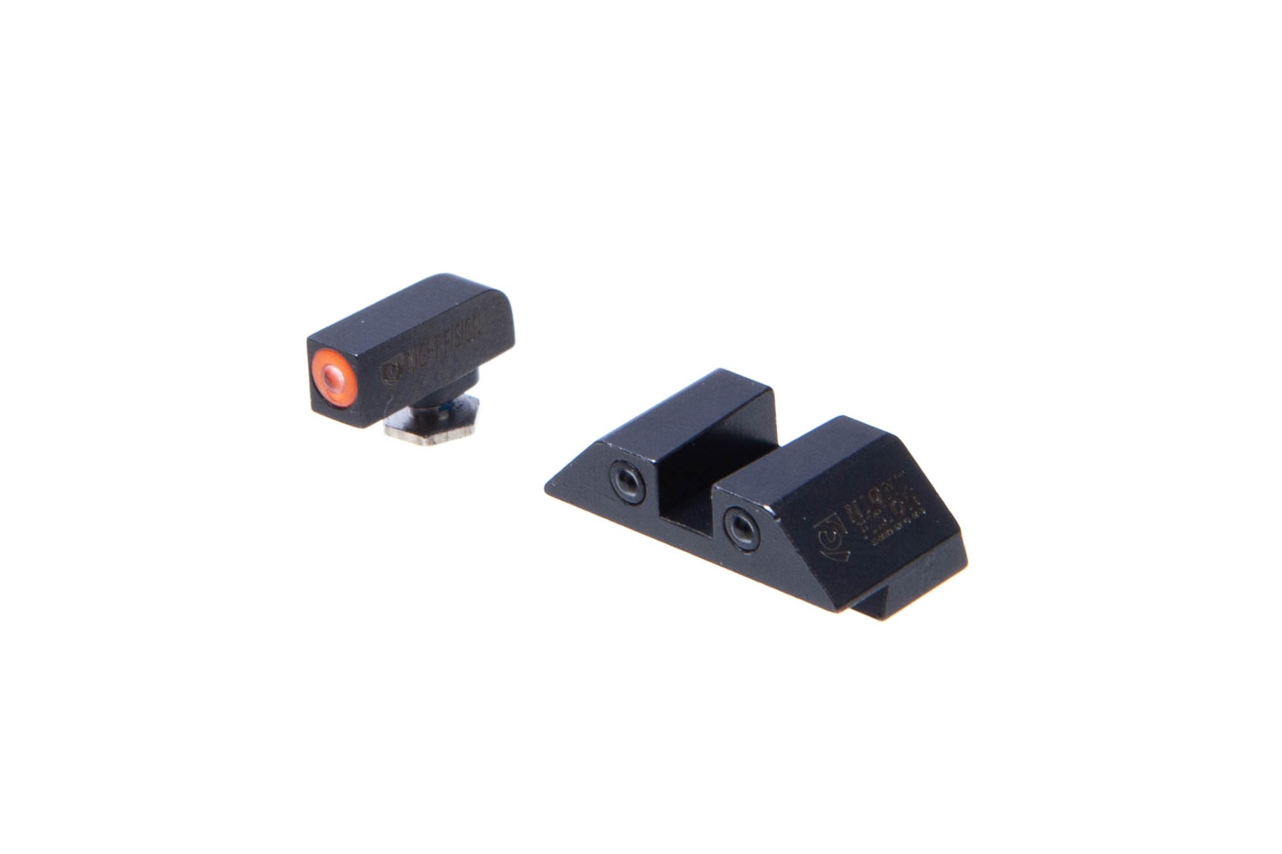 "Night Fision Glock Glow Dome Tritium Night Sights Set -  ""Square"" Rear"