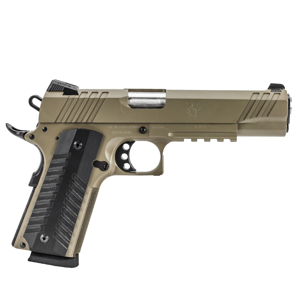 "Devil Dog Arms DDA-1911 Tactical Pistol - 5"" FDE"