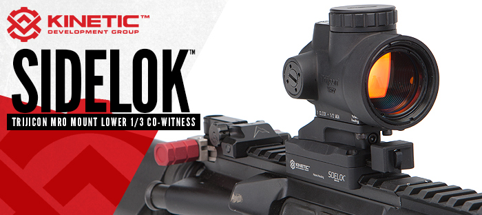Kinetic development group sidelok mount trijicon mro red dot optic