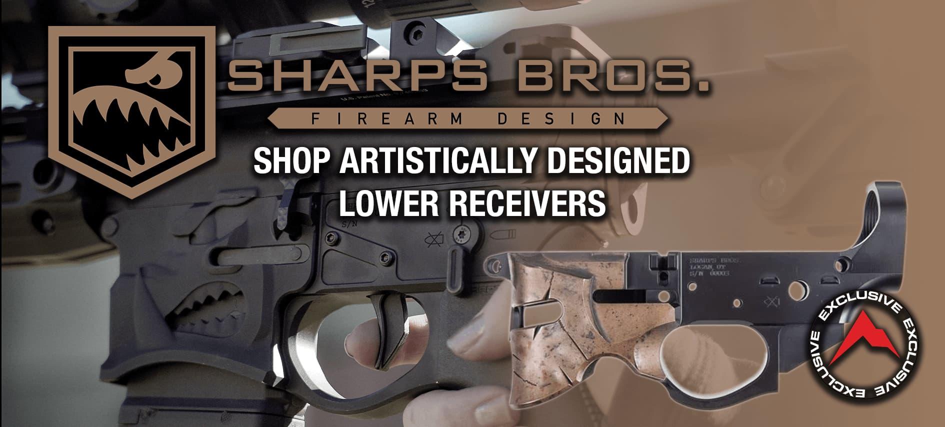 Sharps Bros Artistically Designed Lower Receivers