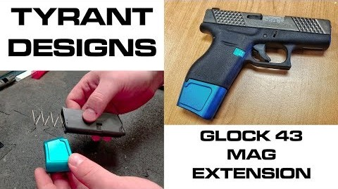 Tyrant Designs Glock 43 Mag Extension