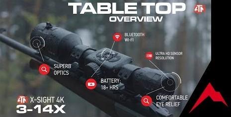 ATN X-Sight-4K 3-14x Pro