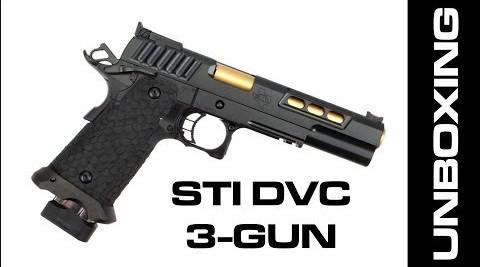 Unboxing of the STI DVC 3-Gun Pistol