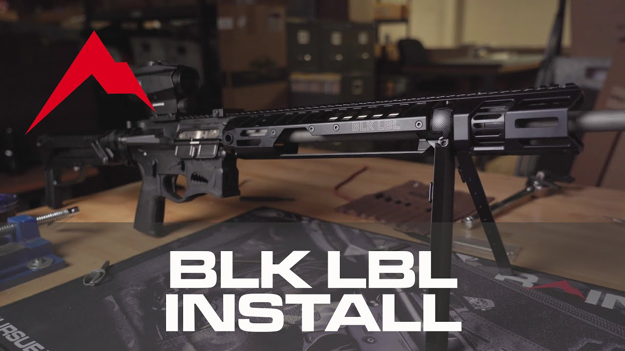 How to: BLK LBL Bipod Installation