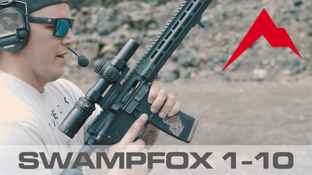 Available at Rainier Arms: SWAMPFOX ARROWHEAD SERIES 1-10X24 SFP IR 30MM RIFLE SCOPE