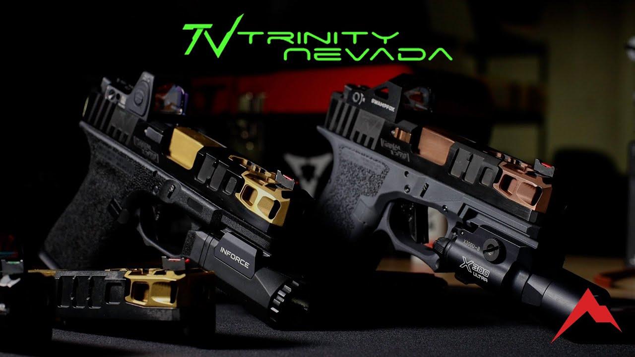 Now available at Rainier Arms: Trinity Nevada Glock Slides