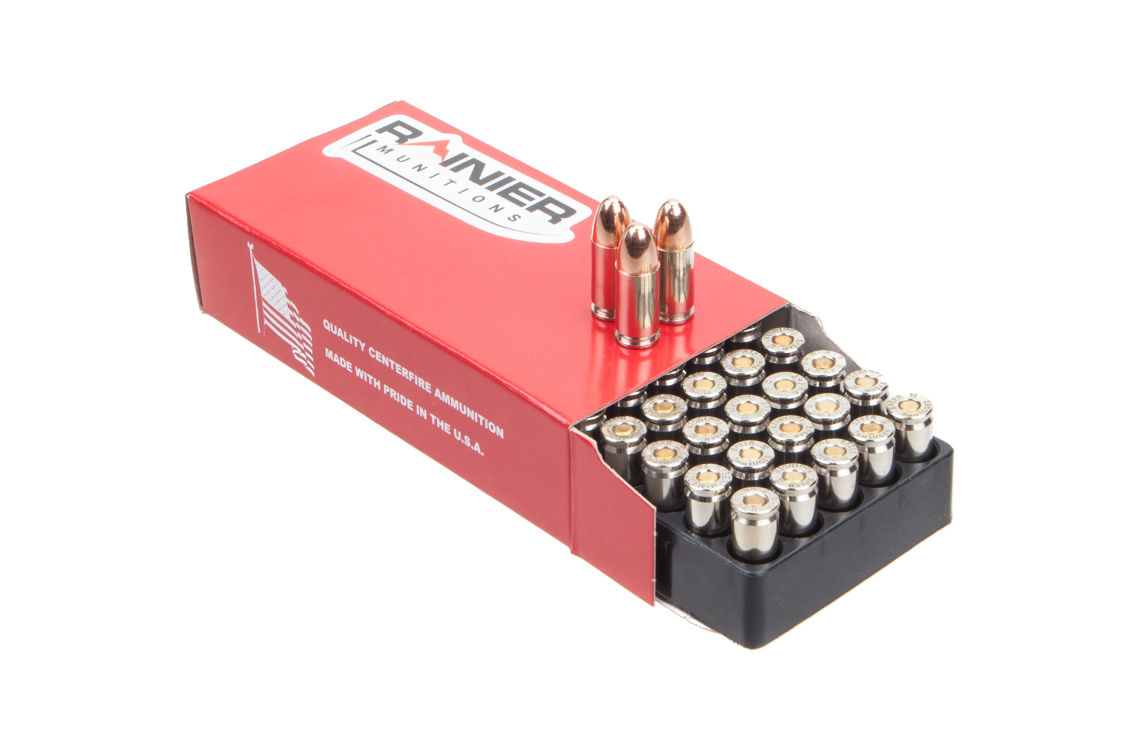 Rainier Munitions Factory New 9mm 147gr Subsonic FMJ Box