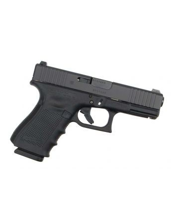Glock 19 Gen 4 9mm Pistol - Front Slide Serrations, Extended Controls and Night Sights