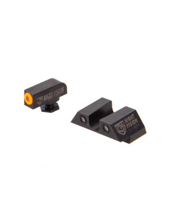 Night Fision Glock 43 Perfect Dot Night Sight Set - Orange/Black