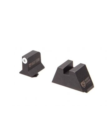 NIGHT FISION Suppressor Height GLOCK TRITIUM SIGHT Set - White/Blank Rear