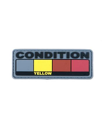 Fortis Mfg Condition Yellow - 3D Rubber Morale Patch