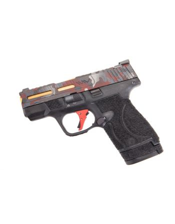 Wetwerks M&P Shield w/ Night Sights Pistol - Multicam Red Apex Red Flat Trigger