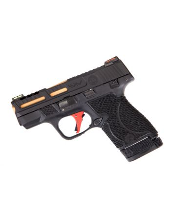 Wetwerks M&P Shield - Black w/ Red Trigger (Ported)