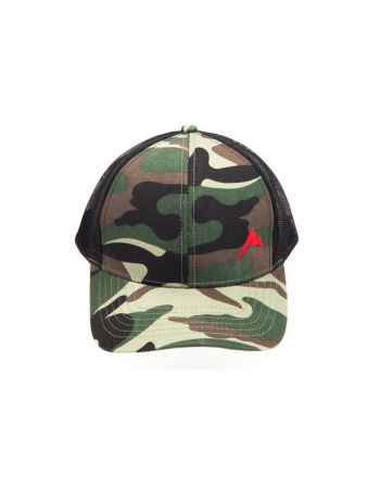 Rainier Arms Trucker Woodland Camo Hat