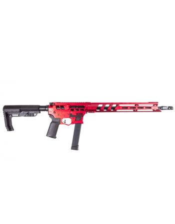 Lead Star Arms Barrage - Skeletonized 9MM Competition Edition PCC Pistol - Red