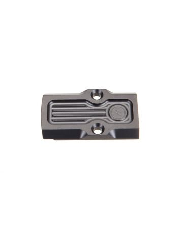 ZEV Technologies Black DLC Coated RMR Adapter Plate without dovetail, 45 Edge, Small frame