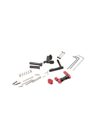Armaspec Gun Builder's Lower Parts Kit - Red