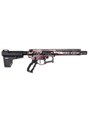 "F-1 Firearms UDR-15-3G 5.56 Pistol - 7"" Ti Red Splash"