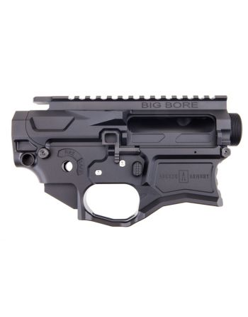 Ascend Armory AR-15 Matched Billet Receiver Set - 6061 Big Bore Shield Deflector