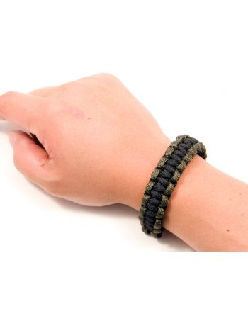 Pantel Tactical Paracord Survival Bracelet - OD/BLK 7