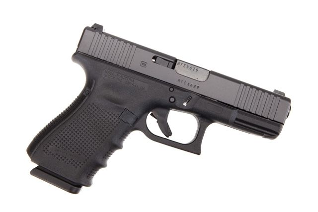 Glock G19 Gen 4 9mm Front Slide Serrations and Extended Controls
